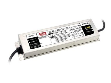 AC-DC SINGLE OUTPUT LED DRIVER WITH PFC - 3 WIRE INPUT - OUTPUT 24 VDC at 10A (ELG-240-24A-3Y)