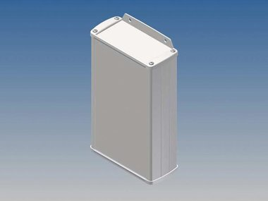 ALUMINIUM BEHUIZING - WIT - 175 x 105.9 x 45.8 mm - met flens (TK33-E.7)