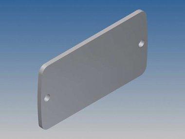 ALUMINIUM PANEEL VOOR TEKAM 1 - ZILVER - 59.9 x 30.8 x 2 mm (TKALLP1.1)