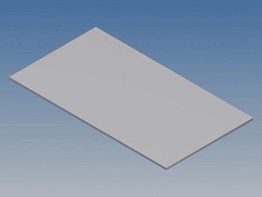 ALUMINIUM PANEEL VOOR 10002 / MC 12 - ZILVER - 77 x 42.5 x 1 mm (TKAPP12.1)
