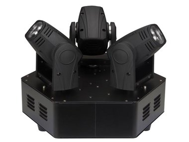TRIMO 310 - MOVING HEAD MET 3 KOPPEN - 3x10W WITTE LED (VDPL310MB)