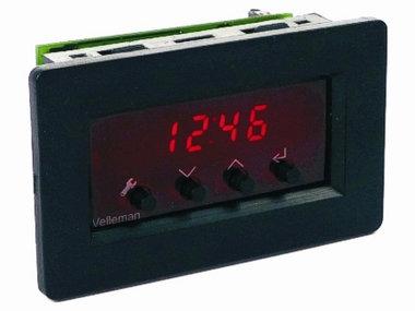 LED PANEELKLOK MET ALARM (VM163)