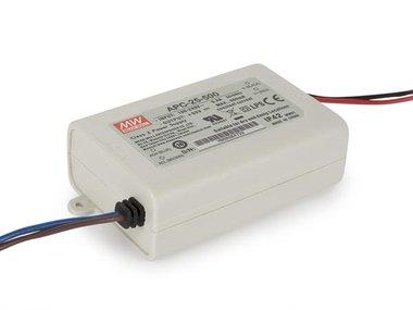 CONSTANT CURRENT LED DRIVER - SINGLE OUTPUT - 500 mA - 25 W (APC-25-500)