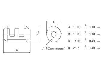 FILTER VOOR VOEDINGSKABELS Ø4.0mm (CF4A)