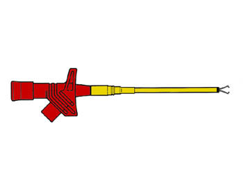 FLEXIBELE KLEMTESTPEN / ROOD (KLEPS 2600) (HM6410S)
