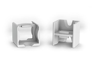 LINEAIRE CONNECTOR VOOR ALUMINIUMPROFIEL VOOR LEDSTRIP SLIMLINE 15 mm - ABS - GRIJS (LC-SL15)