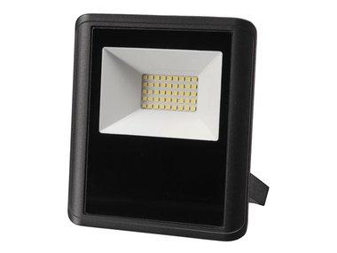 LED-SCHIJNWERPER VOOR BUITENSHUIS - 30 W, NEUTRAALWIT - ZWART (LEDA7003NW-B)