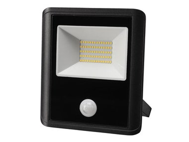 LED-SCHIJNWERPER VOOR BUITENSHUIS - 50 W, NEUTRAALWIT - ZWART - PIR-SENSOR (LEDA7005NW-BP)