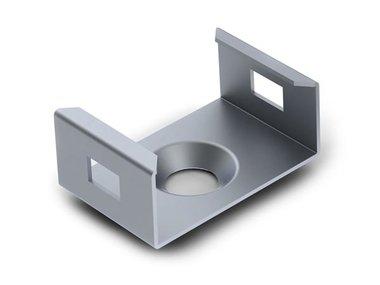 MONTAGEBEUGEL VOOR ALUMINIUMPROFILE VOOR LEDSTRIP SLIMLINE 7 mm - VERENSTAAL - ZILVER (MC-SL7-STEEL)