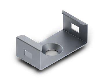 MONTAGEBEUGEL VOOR ALUMINIUMPROFIEL VOOR LEDSTRIP SLIMLINE BREEDTE 8 mm - VERENSTAAL - ZILVER (MC-SLW8-STEEL)