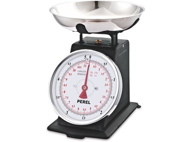 ANALOGE KEUKENWEEGSCHAAL - 5 kg / 20 g (VTBAL106)