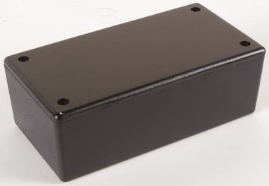PLASTIC BEHUIZING - ZWART 130 x 70 x 45mm (WCAH2853)