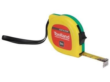 ROLBANDMAAT - MET CLIP EN STOP - 5 m - 13 mm (WM38500)