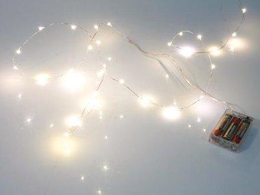 LEDSLINGER - WARMWIT - 20 LEDs - OP BATTERIJEN (XML19)
