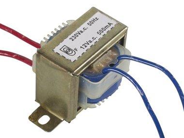 OPEN-CHASSIS TRANSFORMATOR 6VA 1 x 12V 500mA (112006C)
