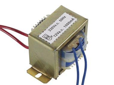 OPEN-CHASSIS TRANSFORMATOR 12VA 1 x 12V 1000mA (112012C)