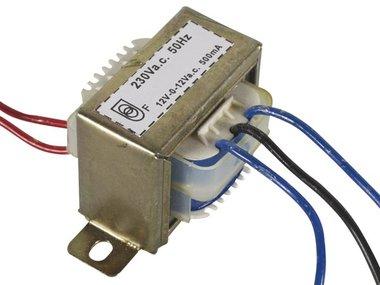 OPEN-CHASSIS TRANSFORMATOR 12VA 2 x 12V 250mA (212012C)