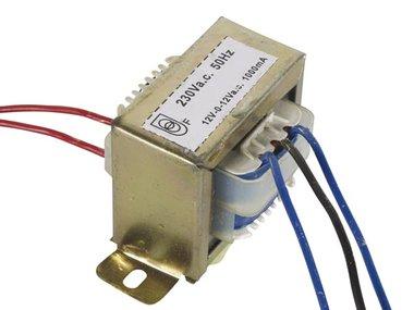 OPEN-CHASSIS TRANSFORMATOR 24VA 2 x 12V 1000mA (212024C)