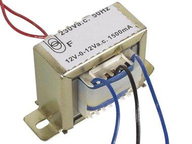 OPEN-CHASSIS TRANSFORMATOR 36VA 2 x 12V 1500mA (212036C)