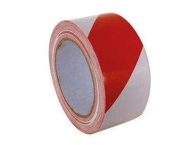 MARKEERTAPE - 50 mm x 33 m - ROOD/WIT (500WR)