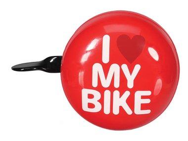 FIETSBEL - 'I LOVE MY BIKE' - Ø 8 cm - ROOD (BR1)