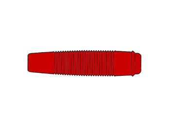 GEÏSOLEERDE SOEPELE CONTRA BANAANSTEKKER VOOR BANAANSTEKKERS 4mm / ROOD (KUN 30) (HM4411)
