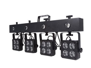 DJ BAR - 16 x 8 W RGBW 4-in-1 + 4 x 1 W LED-STROBOSCOOP - COMPACT (HQLE10034)