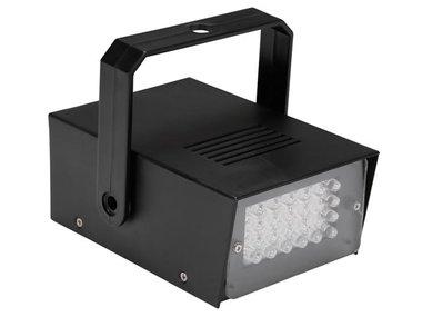 MINI STROBOSCOOP MET WITTE LEDs - 24 LEDs - OP BATTERIJEN (HQPL10001)