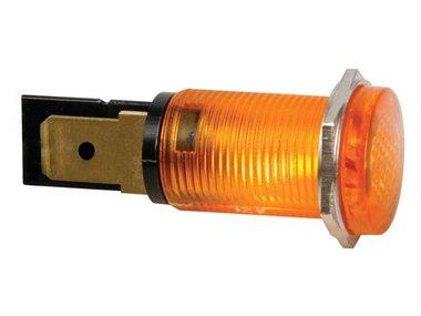 RONDE SIGNAALLAMP 14mm 220V ORANJE (HRJC220A)