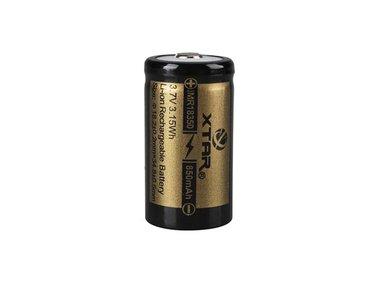XTAR - OPLAADBARE LITHIUM-ION BATTERIJ 3.7 V - 850 mAh - 18350 (ICR18350-08)
