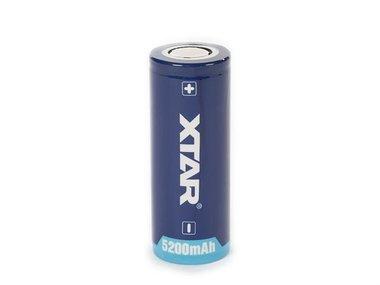 XTAR - OPLAADBARE LITHIUM-ION BATTERIJ 3.6 V - 5000 mAh - 26650 (ICR26650-50)