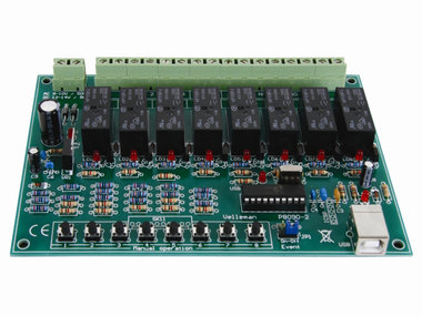 8-KANAALS USB RELAISKAART (K8090)