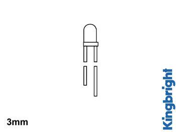 TWEEKLEURIGE BIPOLAIRE LED 3mm ROOD/GROEN WIT DIFFUUS (L-937EGW)