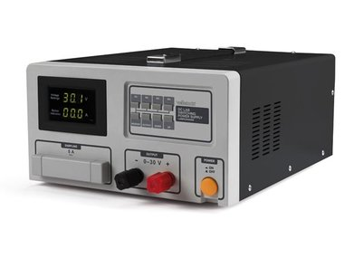 SCHAKELENDE DC-LABOVOEDING 0-30 VDC / 60 A MAX MET LED-SCHERM (LABPS3060SM)