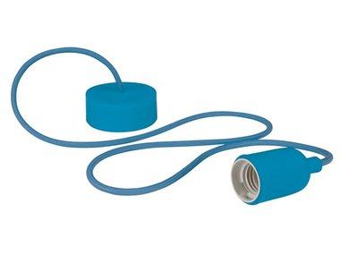 DESIGN LAMPHOUDER MET TEXTIELKABEL - BLAUW (LAMPH01BL)
