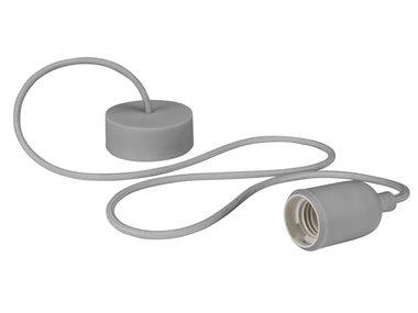 DESIGN LAMPHOUDER MET TEXTIELKABEL - GRIJS (LAMPH01G)