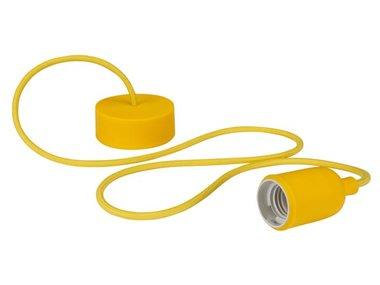 DESIGN LAMPHOUDER MET TEXTIELKABEL - GEEL (LAMPH01Y)