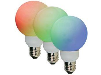 RGB LEDLAMP - E27 - 20 LEDS - Ø60mm (LAMPL60RGB)