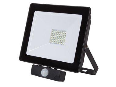 LED-SCHIJNWERPER VOOR BUITENSHUIS - 50 W, NEUTRAALWIT - ZWART - PIR (LEDA6005NW-BP)
