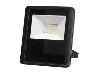 LED-SCHIJNWERPER VOOR BUITENSHUIS - 10 W, NEUTRAALWIT - ZWART (LEDA7001NW-B)