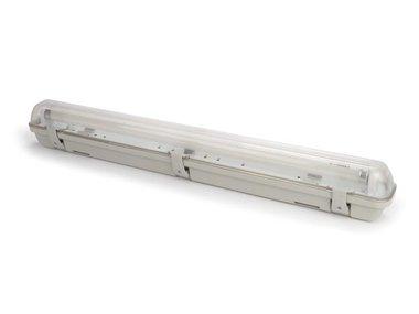 PLAFONDLAMP MET T8-LEDLAMP - WATERDICHT - BUIS - 65.5 cm - NEUTRAALWIT (LEDA95NW)