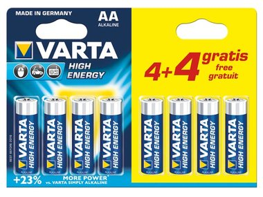 ALKALINE LR6/AA, 1.5 V PROMOPACK 4 + 4 st. 4906.121.448 (blister) (LR6/44)