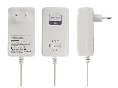 SCHAKELENDE VOEDING - 100-240 V - 3 tot 12 VDC - 1 A + 6 pluggen (PSSEMV25)