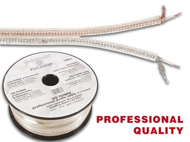 PROFESSIONELE AUDIOKABEL 2 x 0.25mm² ZILVER-GOUD (PUC2025P)