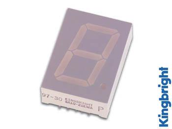 1-DIGIT DISPLAY 25mm GEMEENSCHAPPELIJKE KATHODE SUPERGROEN (SC10-21SGWA)