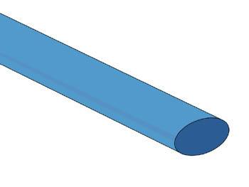 THERMISCHE KRIMPKOUS 9.5mm - BLAUW - 25 ST. (STB95B)