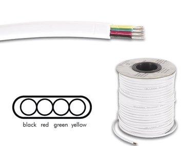 TELEFOONKABEL 4 x 0.08mm WIT PLAT (TFC4008I)