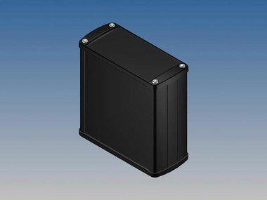 ALUMINIUM BEHUIZING - ZWART - 110 x 105.9 x 45.8 mm (TK31.9)