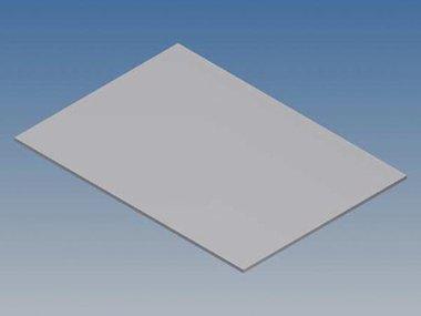 ALUMINIUM PANEEL VOOR PRO 96 - ZILVER - 265 x 156 x 1.5 mm (TKAPP96.1)