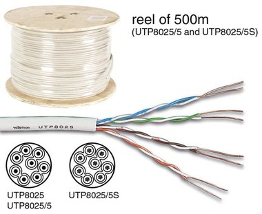 UTP KABEL CAT5E 4 x 2 x 0.51mm IVOOR / 4 TWISTED PAIRS - 500m (UTP8025/5)
